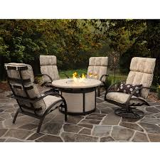 Gas Fire Pit Table And Chairs Patio Furniture With Fire Pit And Combination Of Elements Home