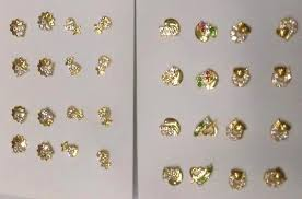 gold second studs gold hallmark second studs 92 75 manufacturer in mumbai