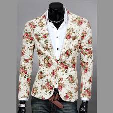 design of jacket suit new design mens blazer floral suit personality casual blazer for men