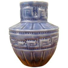 greek key home decor greek key studio pottery vase 92 liked on polyvore featuring