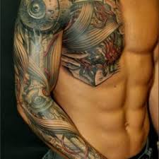 Chest And Half Sleeve - sleeve tattoos archives tattoou