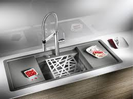 decorating gray blanco sinks with cover and filter plus silver