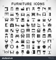 furniture icons furniture design vector set stock vector 361648217 furniture icons furniture design vector set of home decor