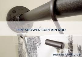 Curtain Rod Shower Used Black Iron Piping To Create A Shower Curtain Rod That