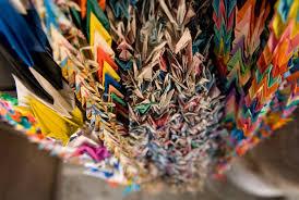 jeffrey friedl u0027s blog ropes of origami cranes