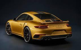 gold porsche 911 this gold porsche 911 turbo s exclusive series packs 598 bhp