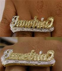 two finger name ring gp two finger any name ring personalized e1 nikfine