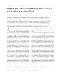 association si e social phubbed and alone phone snubbing social pdf available