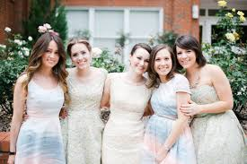 watercolor bridesmaid dresses watercolour inspiration for weddings