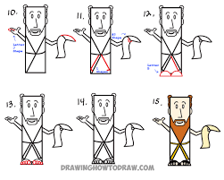 how to draw a man from ancient rome or biblical times from letter