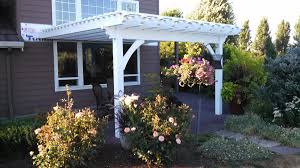 Attached Pergola Kits by Easy Diy Attached Timber Frame Pergola Kit Installed In 4 1 2