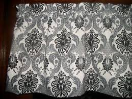 black gray damask brocade paisley mid century waverly fabric