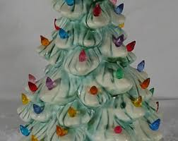 vintage ceramic christmas tree etsy