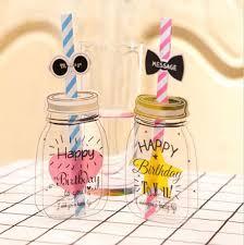aliexpress com buy 1 set korean style straw birthday card