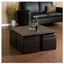 square leather coffee table table modern square leather ottoman coffee table with storage