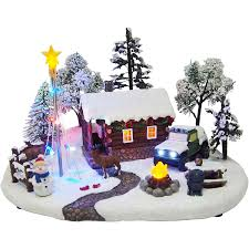 christmas villages time christmas 8 battery operated light up