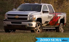 2010 chevy vehicles a pair of chevy silverado hd pickups for sema car and driver blog