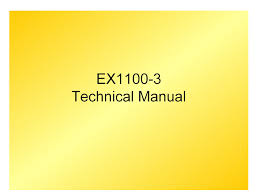 hitachi ex1100 3 excavator technical manual pdf repair manual