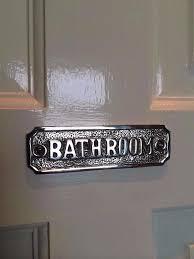 bathroom door sign extraordinary decorative signs plaques