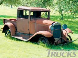 Vintage Ford Truck Junk Yards - model a ford model a pickup truck broken down classic photo 1