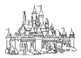 Castle Coloring Pages Disneyland Coloringstar Coloring Pages Castles