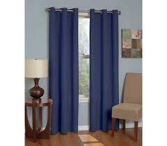 Dorm Room Window Curtains College Blackout Curtain Microfiber Sunblock Drape Navy Dorm