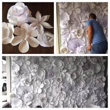 paper flower wedding backdrop diy wedding decorations on a