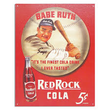 ruth red rock cola metal sign vintage style kitchen signs