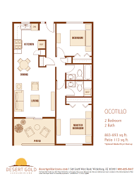 2 Bedroom Condo Floor Plans Desert Gold Condominiums U2013 Floor Plans