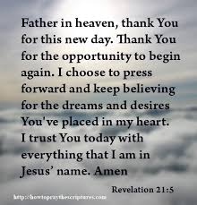 prayer for new day prayer to thank god for this new day how to