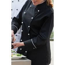 vetement cuisine femme veste chef de cuisine pour femmes manches longues