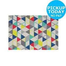 collection cosine rug 120x170 160x230cm multicoloured argos
