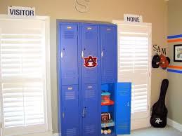 Bedroom Wall Organization Kid Bedroom Divine Picture Of Red Football Locker For Kid Room