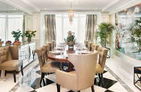 Art Deco Dining Room Table by Vibrant Art Deco Dining Room Tara Dudley Interiors Las Vegas