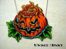 jack o lantern tattoo flash