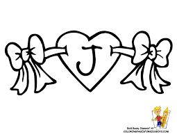 hearts print kids coloring