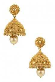 jhumki earring bead jhumkas earrings gold finish jaal jhumki pernia s