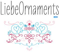 liebe ornaments font sle design ilustração inspiração