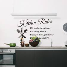online buy wholesale kitchen words from china kitchen words diy wall stickers kitchen rules words waterproof removable pvc kitchen home decor china