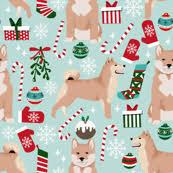 cute dog christmas wallpapers christmas dog fabric wallpaper u0026 gift wrap spoonflower