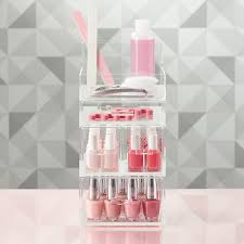 luxe acrylic small nail polish storage kit the container store