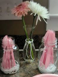 jar centerpieces for baby shower pearl baby shower oh my creative
