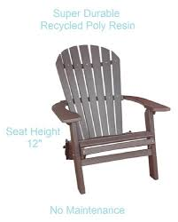 Recycled Adirondack Chairs Amazon Com Phat Tommy Recycled Poly Deluxe Folding Adirondack