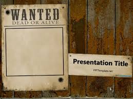 microsoft powerpoint templates for posters free western wanted reward powerpoint template