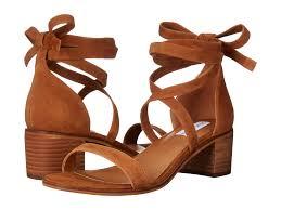 steve madden rizzaa cognac suede womens shoes sandals flat