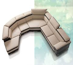 contemporary full italian leather sectional sofa vg78 leather