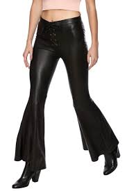 Leather And Lace Clothing Cleobella Silvie Leather Pant Bell Bottom Pants Leather Pants