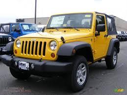 yellow jeep 4 door 2011 jeep wrangler sport 4x4 in detonator yellow 529851 all