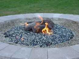 Natural Gas Fire Pit Kit Outdoor Gas Fire Pit Glass Rocks Beads Modern Fire Pit Rocks