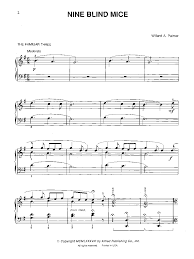 Three Blind Mice Piano Notes Nine Blind Mice By Palmer W J W Pepper Sheet Music